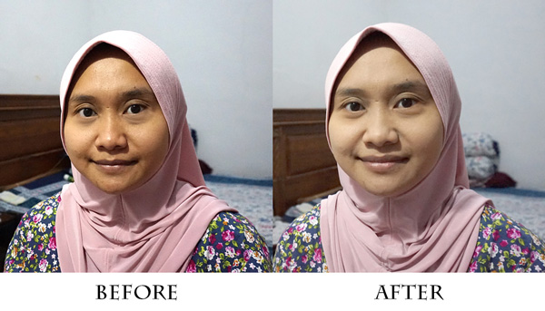 Aplikasi Wardah BB Lightening Cake Powder